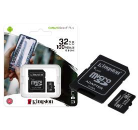 Cartão de Memória KINGSTON Micro SD SDCS2/32GB 32GB 100R/85W Canvas Select Plus
