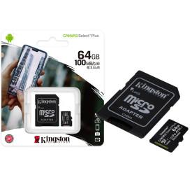 Cartão de Memória KINGSTON Micro SD SDCS2/64GB 64GB 100R/85W Canvas Select Plus
