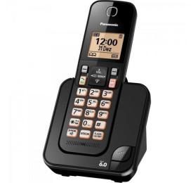 Telefone sem Fio Panasonic com ID KX-TGC350LBB Preto