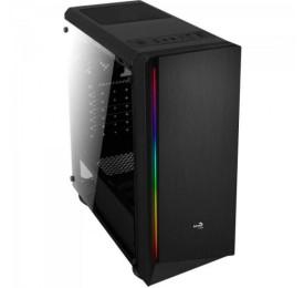 Gabinete Aerocool Gamer RGB Rift Preto Vidro Temperado