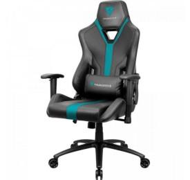 Cadeira Gamer THUNDERX3 YC3 Preta/Ciano