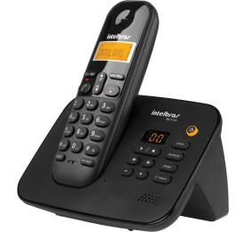 Telefone Sem Fio Intelbras Digital com Secretária Eletrônica TS 3130 Preto