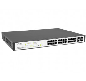 Switch Intelbras Gerenciável SG2404 POE 24 Portas GIGABIT + 4 MINI-GBIC