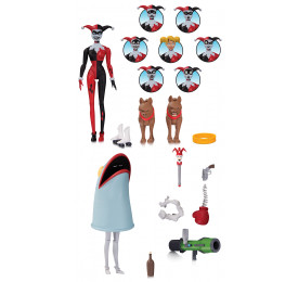 ACTION FIGURE ANIMATED HARLEY QUINN EXPRESSIONS - ARLEQUINA
