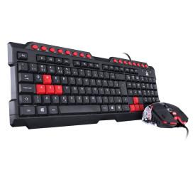 Teclado e Mouse Gamer Vinik VX Gaming Grifo - Mouse 2400DPI com Led Vermelho