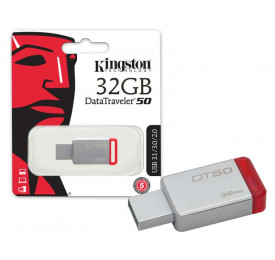 Pendrive Kingston DT50/32GB 32GB Metal Vermelho USB 3.1