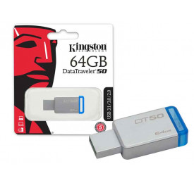 Pendrive Kingston DT50/64GB 64GB Metal Azul USB 3.1