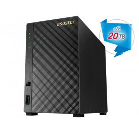SISTEMA DE BACKUP NAS ASUSTOR AS1002T MARVELL ARMADA 385 1.0 GHZ 512MB DDR3 TORRE 2 BAIAS