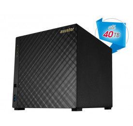 NAS ASUSTOR AS3104T INTEL DUAL CORE J3060 1,6GHZ 2GB DDR3 TORRE 4 BAIAS