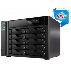 NAS ASUSTOR AS6210T INTEL QUAD CORE J3160 1,6GHZ 4GB DDR3 TORRE 10 BAIAS