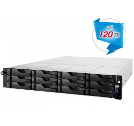 NAS ASUSTOR AS6212RD INTEL QUAD CORE J3160 1,6GHZ 4GB DDR3 RACK 12 BAIAS