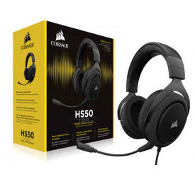 Headset Corsair HS50 Stereo Carbon CA-9011170-NA
