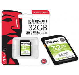 Cartão Memória SD KINGSTON SDS/32GB SDHC 32GB Canvas Select Classe 10