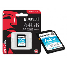 Cartão Memoria SD KINGSTON SDG/64GB SDXC 64GB Canvas Go! Classe 10