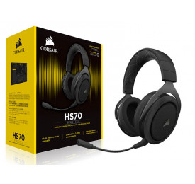HEADSET CORSAIR HS70 WIRELESS SURROUND 7.1 CARBON CA-9011179-NA