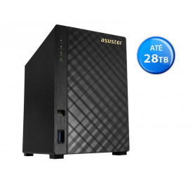 NAS ASUSTOR AS1002T V2 MARVELL DUAL CORE 1.6GHZ TORRE 2 BAIAS
