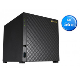 NAS ASUSTOR AS1004T V2 MARVELL ARMADA 385 1,6GHZ 512MB DDR3 TORRE 04 BAIAS