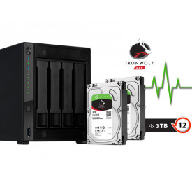 NAS ASUSTOR AS4004T12000 MARVELL 1,6GHZ 2GB DDR4 TORRE 12TB HOT-SWAP