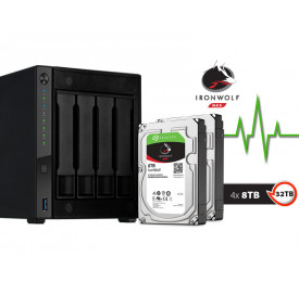 NAS ASUSTOR AS4004T32000  MARVELL 1,60GHZ 2GB DDR4 TORRE 32TB HOT-SWAP