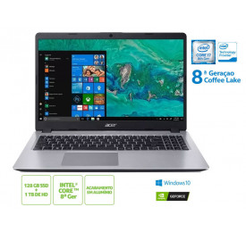 NOTEBOOK ACER A515-52G-79H1 INTEL I7 8565U 8GB 128 SSD 1TB HD MX130 WIN10 15.6