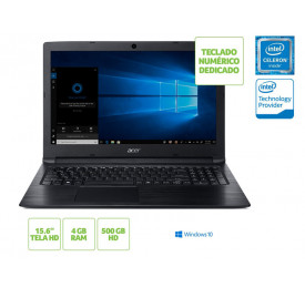 NOTEBOOK ACER A315-33-C39F INTEL DUAL CORE N3060 4GB 500GB WIN10 15.6 HD