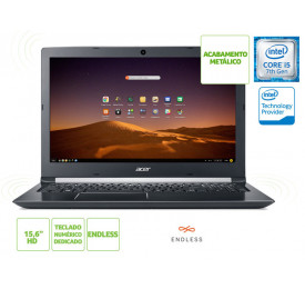 NOTEBOOK ACER A515-51-52M7 INTEL I5 7200U 4GB 1TB LINUX 15.6 HD