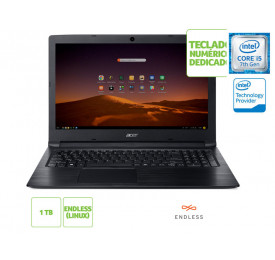 NOTEBOOK ACER A315-53-57G3 INTEL I5 7200U 8GB 1TB LINUX 15.6 HD