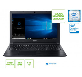 NOTEBOOK ACER A315-53-55DD INTEL I5 7200U 4GB 1TB WIN10 15.6 HD