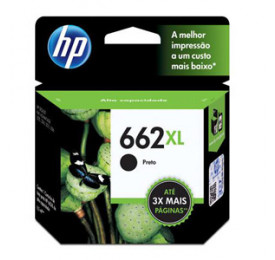 Cartucho HP 662XL Preto 6,5ML