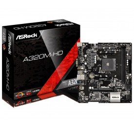 Placa Mãe ASROCK A320M-HD DDR4 USB 3.1 AM4
