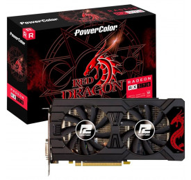 Placa de Video Radeon POWERCOLOR RX 570 4GB DDR5 AXRX 570 4GBD5-3DHDV2/OC