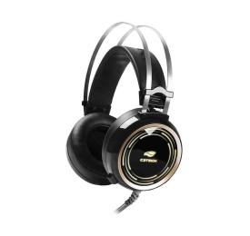 Headset Gamer C3Tech PH-G310BK Black Kite LED RGB P2, USB
