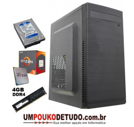 Computador UPK AMD Athlon 3000G 3.5GHZ / 4GB DDR4 / HD 1TB 7200RPM