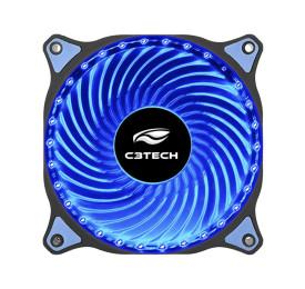 Cooler Gabinete C3Tech F7-L130BL STORM 120mm 30 LEDs Azul