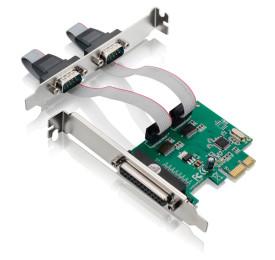 Placa Multiserial 2x Serial + 1 Paralela PCI-e