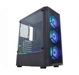 Gabinete K-MEX Gamer Boreas II LED RGB CG-02JT Preto