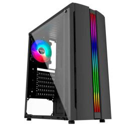 Gabinete Gamer Pixxo GF5522 RGB USB 3.0 Preto