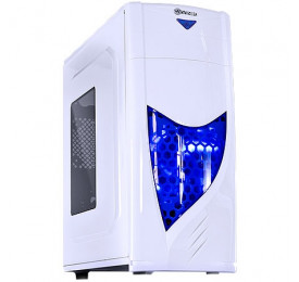 Gabinete Vinik Gamer Eclipse V2 Branco c/ Led Azul