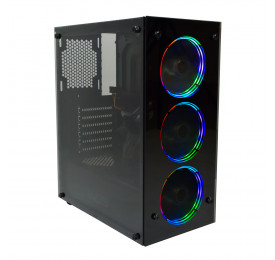 Gabinete Gamer Evus EV-G16 com 3 Fan LED RGB, Vidro Temperado