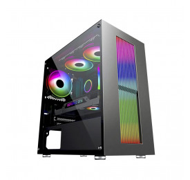 Gabinete Gamer K-MEX Bifrost IV CG-02RU LED RGB