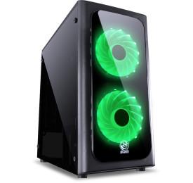 Gabinete PCYES VENUS C/ 2 FANS LED Verde