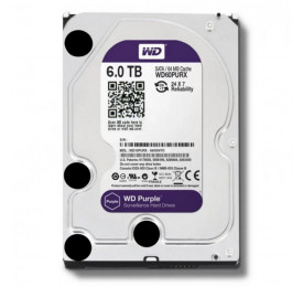 HD Western Digital Purple WD60PURZ 6TB 64MB SATA III