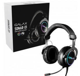 Headset Gamer Galax RGB Sonar Series SNR-01 Preto USB HGS015USRGR0
