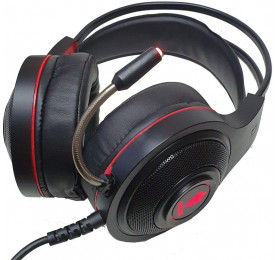 Headset Evolut Gamer Têmis Vermelho/Preto EG301R P2 e USB