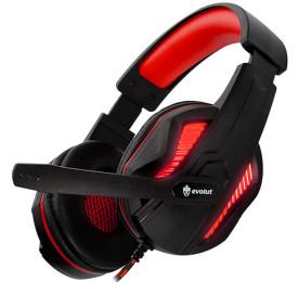 Headset Evolut Gamer Thoth Vermelho/Preto EG305RD P2