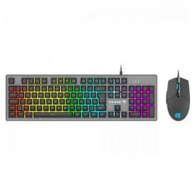 Teclado e Mouse Gamer FORTREK RGB Rainbow RANGER Grafite