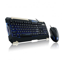 Kit Teclado e Mouse Thermaltake Tt Sports Commander KB-CMC-PLBLPB-01