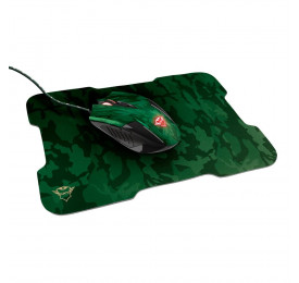 Kit Gamer Trust Mouse GXT 781 Rixa Camo Gaming + Mouse Pad Control