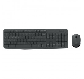 Teclado e Mouse Logitech Wireless MK235 USB