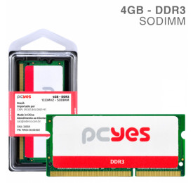 Memória PCYES Notebook 4GB DDR3 1333Mhz PM041333D3SO